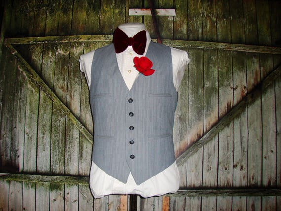 Vintage Men's Suit Vest 1960 Mens Waistcoat Size … - image 6
