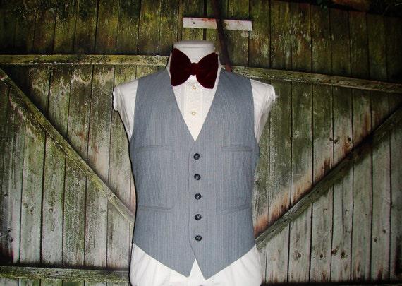 Vintage Men's Suit Vest 1960 Mens Waistcoat Size … - image 2