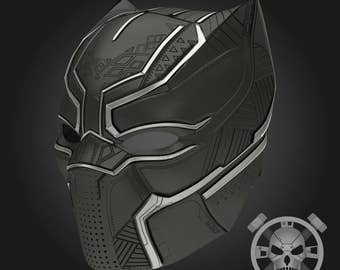 Black panther helmet from Captain America: Civil War for 3D-printing