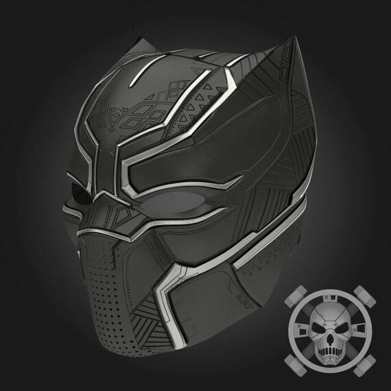 black panther helm von captain america b rgerkrieg f r. Black Bedroom Furniture Sets. Home Design Ideas