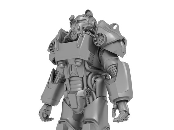 fallout 4 power armor t 60 armor for 3d printing wearable suit etsy