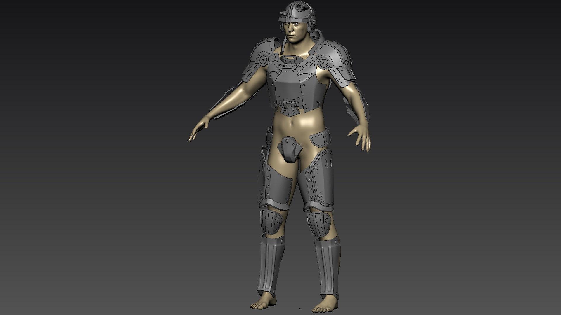 3D Model of Combat armor Standard/Sturdy/Heavy