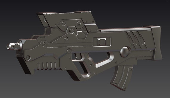 3d Model Of Schrodinger Gun From Ghost In The Shell Etsy