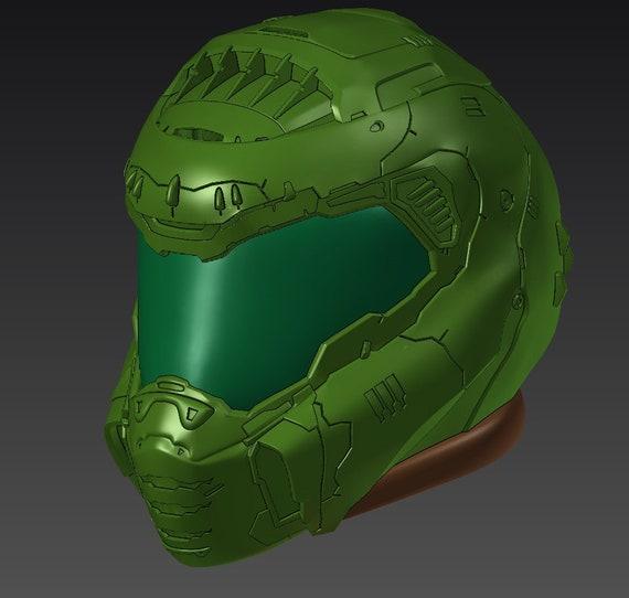 3d Model Of Doom Eternal Helmet Etsy