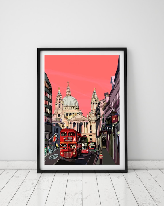 Scenic View Sunrise over London photo Print A4 NEW FREE UK POSTAGE