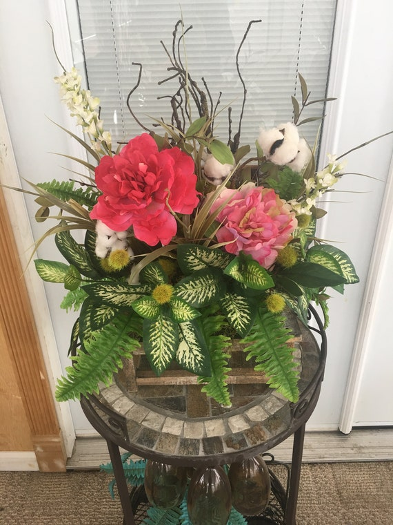 Spring Summer Centerpiece For Table Spring Centerpieces Etsy