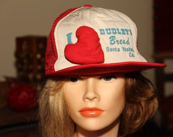 Dudley s 3D Hat Famous Bakery San Diego Bread Vintage 1980s Trucker Hat 80s  Baseball Cap fb6fc8262