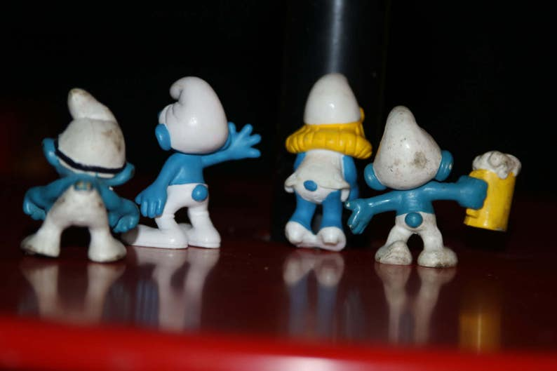 1980s SMURF Lot Vintage Peyo Schleich Lot of different Smurfs PVC figure Smurfette