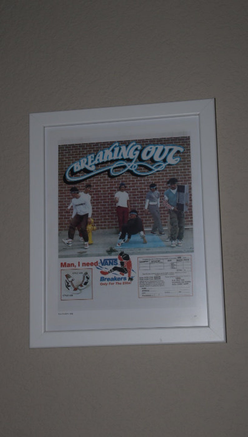 113f549295 VANS  Breaking Out  Vintage 1980s Breakdance Ad Poster