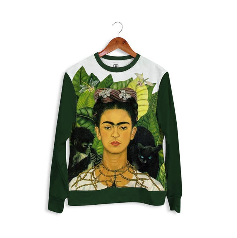 a058301fd Full Print Sweatshirt Hoodie Sweater. Painting by Frida Kahlo gift for her  gift for him gift ideas from ONME