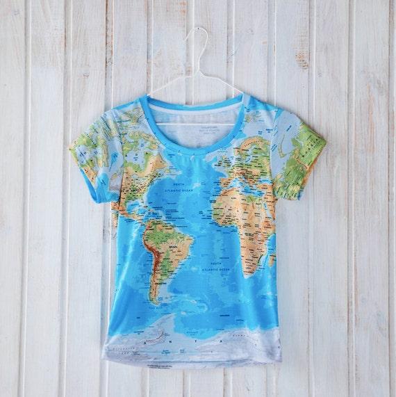 World map t shirt globe print all over print design gumiabroncs Images