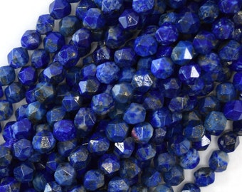 Very-Very-Finest,AAA Quaality Lapis Lazuli Faceted DROPS Briolettes 9-10mm aprx.