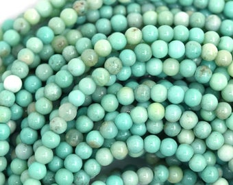 "3mm green chrysoprase round beads 15.5"" strand 36607"