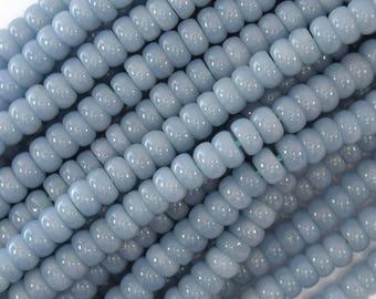 "6mm blue angelite rondelle beads 15.5"" strand 36675"