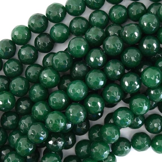"Beautiful 8mm Round Emerald Gemstone  Loose Beads 15/"""