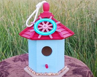Ocean Ship's Wheel Birdhouse