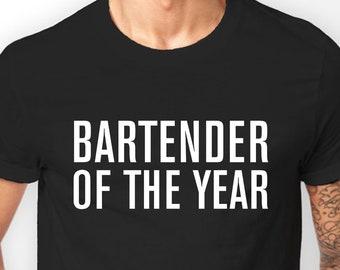 Bartender T-shirt for Men, Gifts for bartender, Bartender of the year T-shirt, Cotton, S M L XL XXL 3XL 4XL 5XL