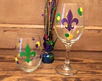 Mardi Gras Glass - 20 oz.