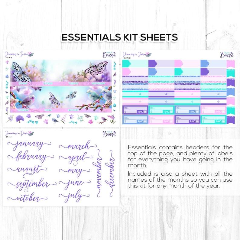 Dreaming in Daisies Monthly View Kit - Premium Matte Paper /& Removable Vinyl New Format! Erin Condren Vertical Life Planner