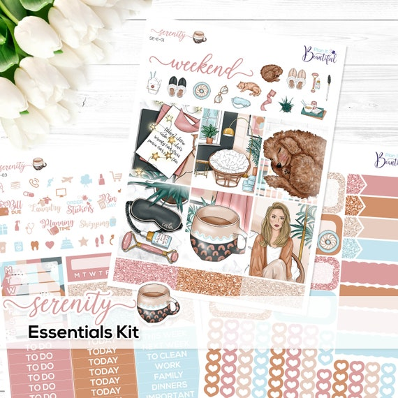 - Stickers for Erin Condren Vertical Life Planner Premium Matte Paper /& Removable Vinyl Matte or Glossy Special Moments Essentials Kit