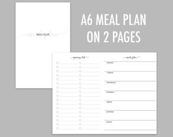 A6 TN Meal Plan on 2 Pages