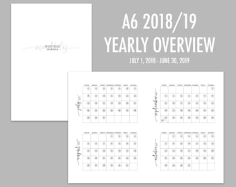 A6 TN Yearly Overview 2018/19 (Jul-Jun)