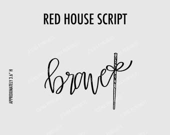 Red House Script Clipart
