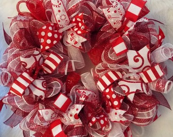 candy cane wreath christmas marquee wreath marquee wreath winter wreath candy cane christmas decor peppermint wreath
