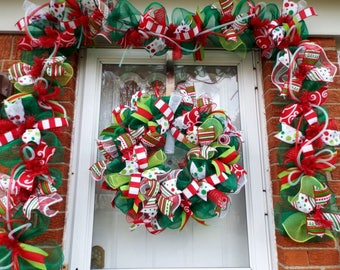 christmas garland door garland fireplace garland christmas wreath wreaths wreath christmas wreathsgarland double door