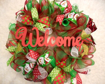 Welome christmas wreath, Christmas Marquee, Christmas Marquee wreath, Merry Christmas Wreath, Christmas, Christmas Wreath