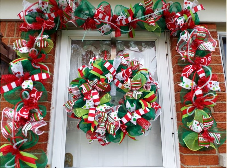 Christmas Garland Door Garland Fireplace Garland Christmas Etsy