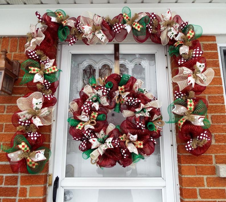 Christmas Garland Door Garland Fireplace Garland Christmas Wreath Wreaths Wreath Christmas Wreaths Garland Double Door