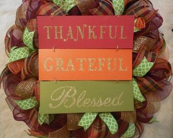 Fall Wreath, Fall Wreaths, Harvest Wreath, Thanksgiving Wreath, Happy Thanksgiving Wreath, Happy Harvest Wreath,Autumn Wreath