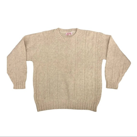 Vintage Fall River Knitting Mills wool cable knit