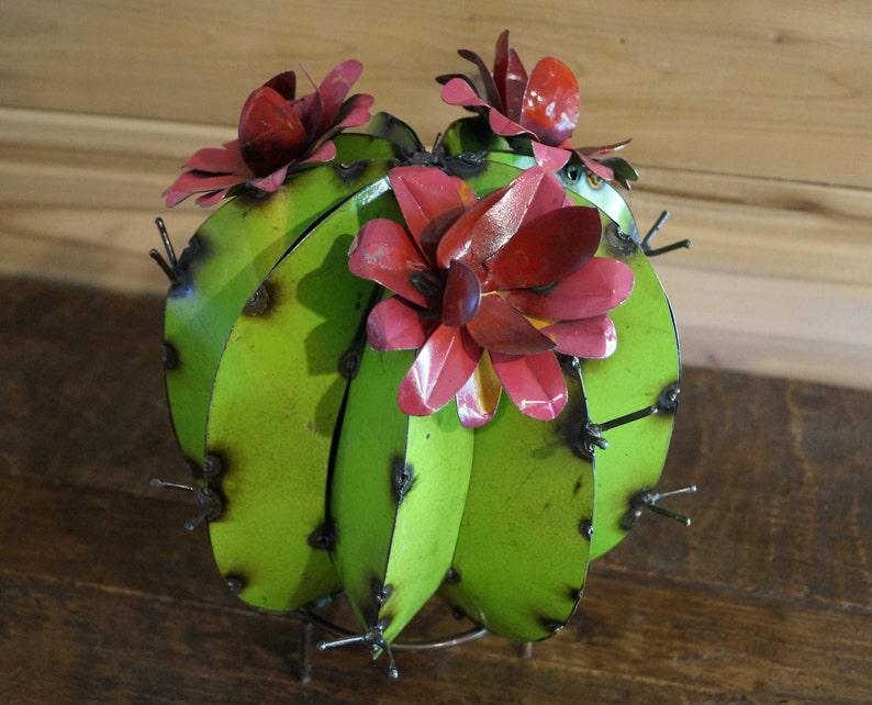 Vintage Cactus, Metal Cactus, Rustic Cactus, Yard Art, Mexican Cactus