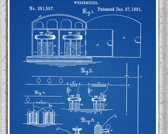 Delorean Patent Print Delorean Poster Delorean Blueprint Etsy