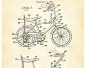 Schwinn Bicycle Patent Print, Banana Seat Bicycle Poster, Cycling Art, Bicycle Art, Stingray, Vintage Bicycle, Bike Art, Cyclist Gift P640