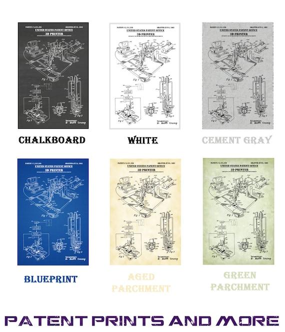 1992 3-D Printer Patent Print Art Drawing Poster 18X24