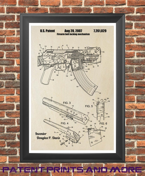 AK47 Exploded View Diagram Poster 24x36 inches