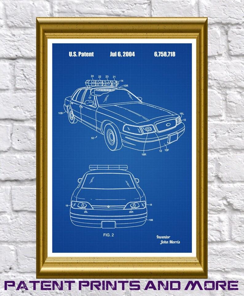 Police Car Patent, Police Car Poster, Police Art, Police Car Print, Toy  Police Car, Policeman Gift, Police Officer Decor, Patrolman Art P85