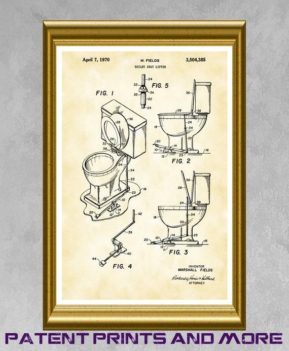 Incredible Toilet Seat Poster Toilet Seat Patent Bathroom Poster Toilet Art Toilet Seat Print Bathroom Decor Bathroom Wall Art Plumber Gift P130 Lamtechconsult Wood Chair Design Ideas Lamtechconsultcom