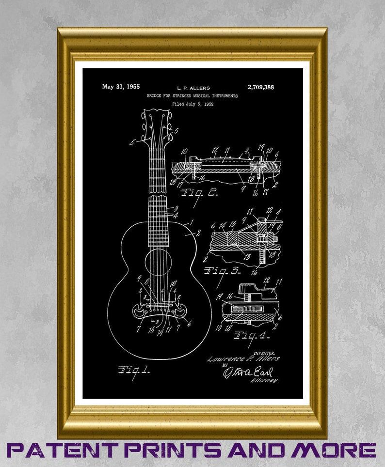 Gibson Guitar Patent Print, Gibson Guitar Bridge Design Poster, Gibson  Guitar Art, Band Art, Guitaist Gift, Guitar Teacher Wall Art P575