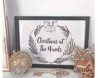 "A4 personalised print - ""Christmas at the"""