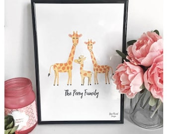 Personalised family animal print
