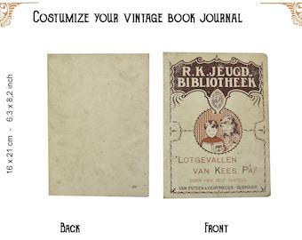 Custom journal of a vintage book Kees Paf - notebook - Travelers notebook - junk journal