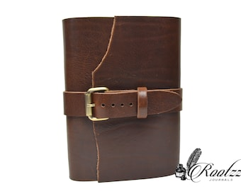 A5 Big chunk travelers notebook with a belt