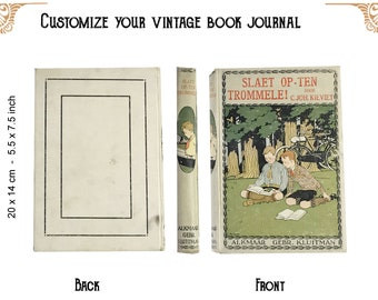 Custom journal of a Vintage book trommele