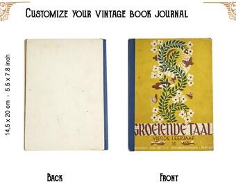 Custom journal of a Vintage book Groeiende taal