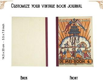 Custom journal of a Vintage book De mei boom
