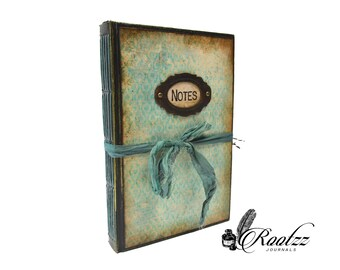 Junk Journal book Turquoise